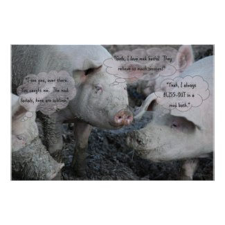 Pretty Pigs' 'Spa' Mud Facial & Mud Bath