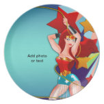 Pretty Pin Up Girl Party Plate