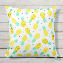 Pretty Pineapple Pattern Patio Pillow