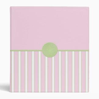 """Pretty Pink 1"""" Binder (green spine)"""