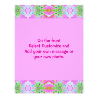pretty pink abstract border flyer