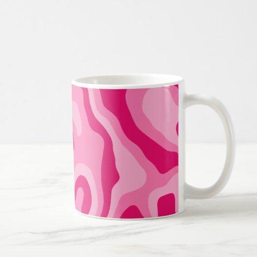 Pretty pink abstract pattern classic white coffee mug