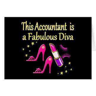 PRETTY PINK ACCOUNTANT DIVA DESIGN CARD