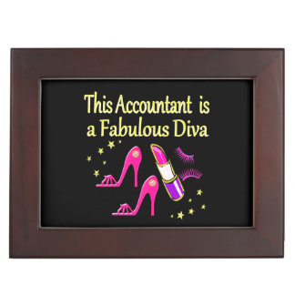 PRETTY PINK ACCOUNTANT DIVA DESIGN KEEPSAKE BOX
