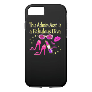 PRETTY PINK ADMIN ASST DIVA DESIGN iPhone 8/7 CASE