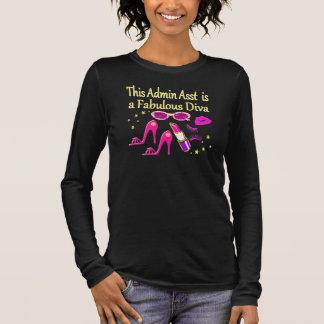 PRETTY PINK ADMIN ASST DIVA DESIGN LONG SLEEVE T-Shirt
