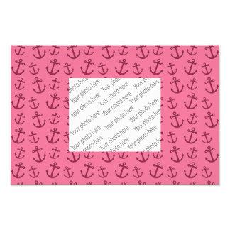 Pretty pink anchor pattern photo