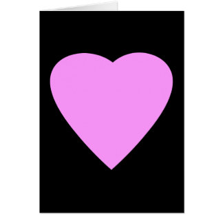 Pretty Pink and Black Love Heart. Card