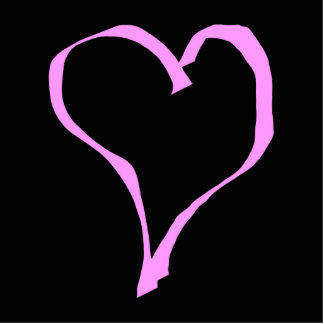 Pretty Pink and Black Love Heart. Cutout
