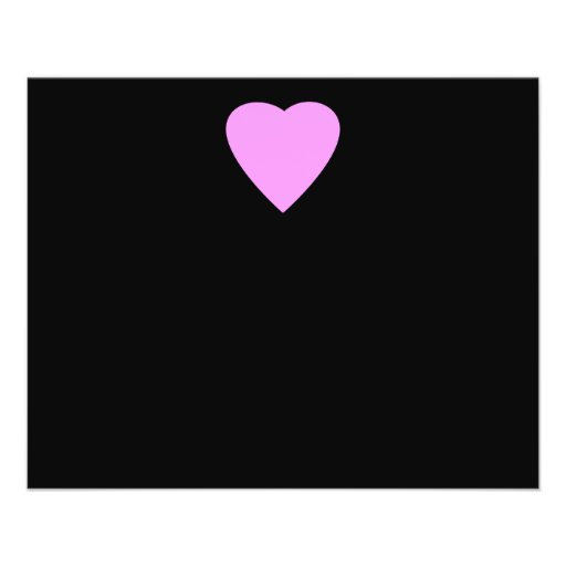 Pretty Pink and Black Love Heart. Personalized Flyer