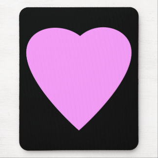 Pretty Pink and Black Love Heart. Mouse Pad