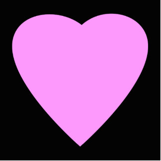 Pretty Pink and Black Love Heart. Photo Cut Outs
