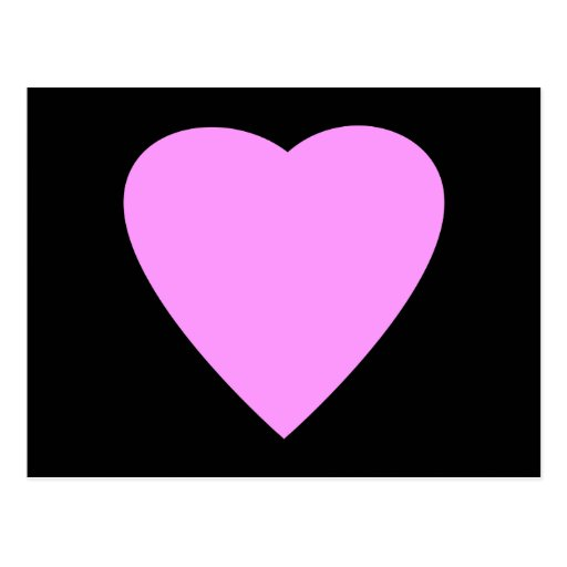 Pretty Pink and Black Love Heart. Post Card
