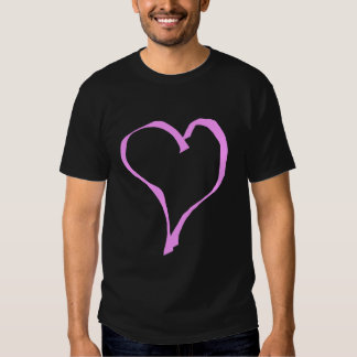 Pretty Pink and Black Love Heart. Tee Shirt