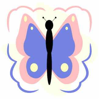 Pretty Pink And Blue Butterfly Ornament