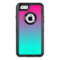 Pretty Pink and blue cotton candy OtterBox Defender iPhone Case