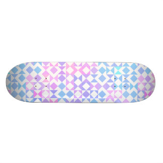 Pretty Pink and Blue Geometric Aztec Pattern Skate Board Deck