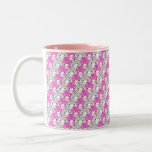 Pretty Pink and Clear Rhinestone Stripe Design Mug