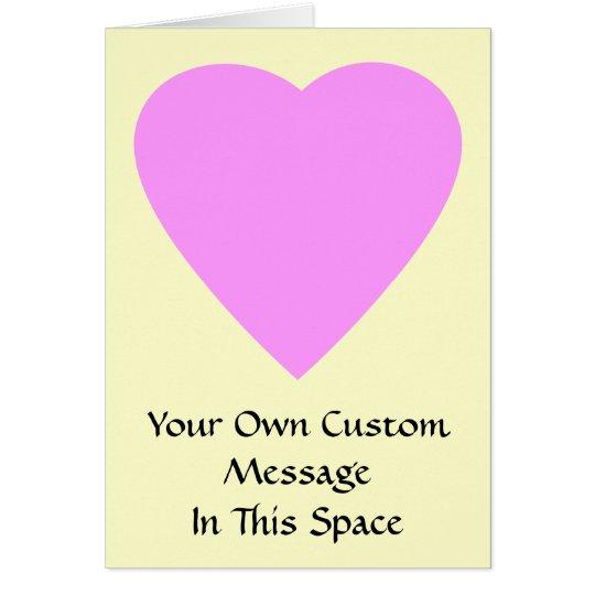 Pretty Pink and Cream Love Heart. Card