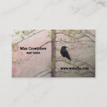 Pretty Pink and Crow Business Card