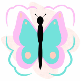 Pretty Pink And Cyan Butterfly Ornament
