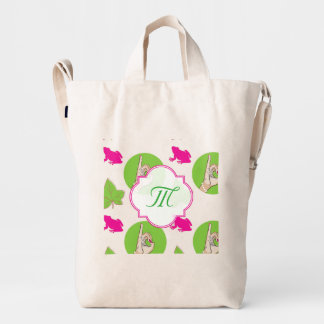 Pretty pink and green bag