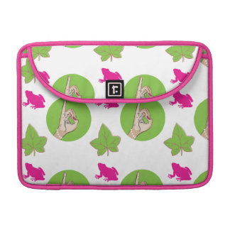 Pretty pink and green laptop bag. MacBook pro sleeves