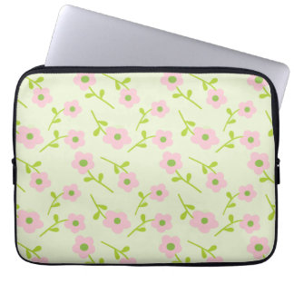Pretty pink and green laptop Case