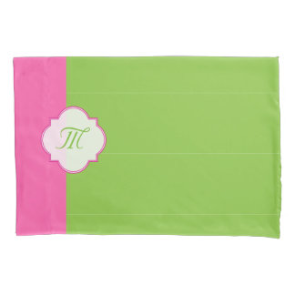 Pretty Pink and green Pillowcase