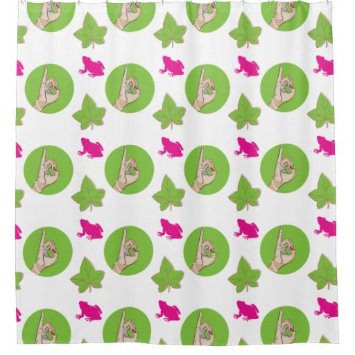 pretty pink and green shower curtain zazzle