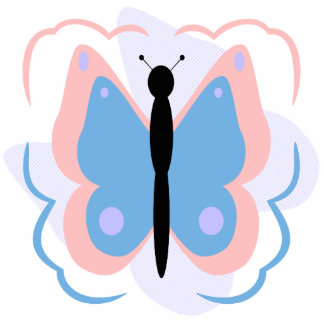 Pretty Pink And Light Blue Butterfly Ornament