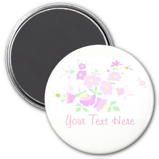 Pretty Pink And Mauve Flowers Magnet