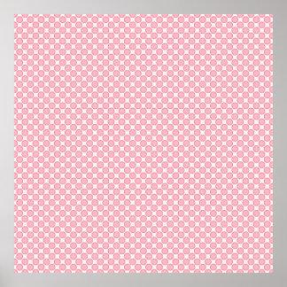 Pretty Pink and Orange Circle Pattern Poster