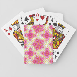 Pretty Pink And Pastels Floral Damask Playing Cards
