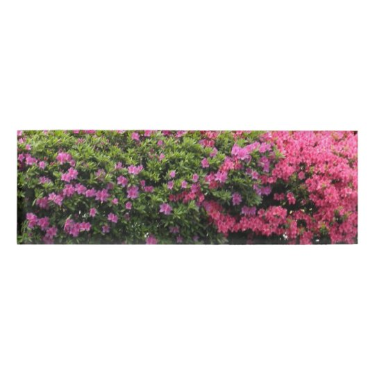 Pretty Pink And Purple Flowers Name Tag Zazzle