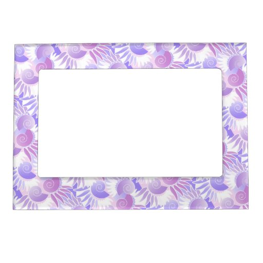 Pretty Pink and Purple Pastel Art Deco Pattern Magnetic Frame
