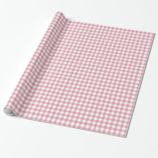 Pretty Pink and White Gingham Wrapping Paper