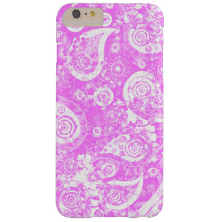 Pretty Pink and White Girly Paisley Pattern Barely There iPhone 6 Plus Case