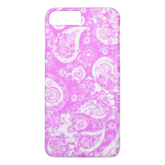 Pretty Pink and White Girly Paisley Pattern iPhone 7 Plus Case