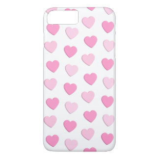 Pretty Pink and White Hearts Wedding iPhone 8 Plus/7 Plus Case