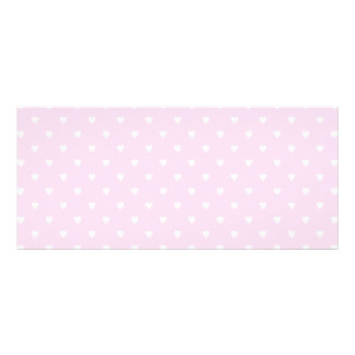 Pretty pink and white love heart pattern. custom rack card