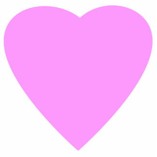 Pretty Pink and White Love Heart. Photo Cut Outs
