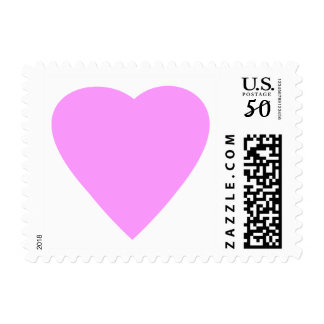 Pretty Pink and White Love Heart. Postage