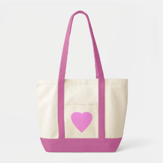 Pretty Pink and White Love Heart. Tote Bag