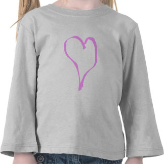 Pretty Pink and White Love Heart. Shirts