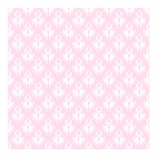 Pretty pink and white pattern. Damask. Standing Photo Sculpture