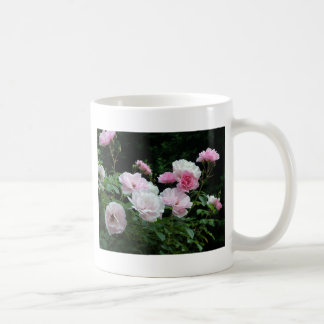 pretty pink and white rose flower bushes. Floral, Coffee Mug