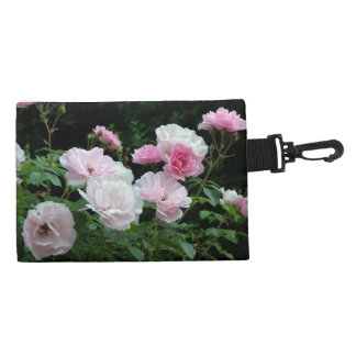 pretty pink and white rose flowers. Floral photo Accessories Bag