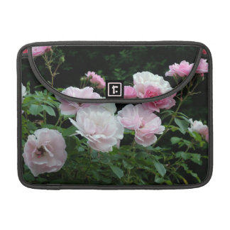 pretty pink and white rose flowers. Floral photo Sleeves For MacBooks