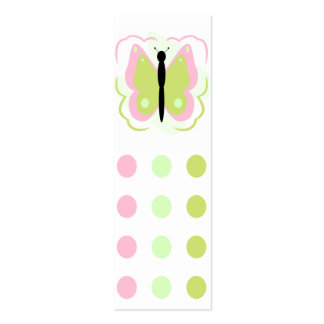 Pretty Pink And Yellow Butterfly Bookmark Business Card Templates